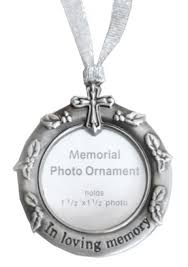 bereavement gifts memorial christmas ornaments photo frame christmas ornamen