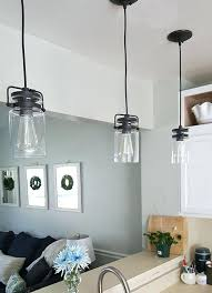 pendant light over sink kitchen pendant lighting over sink clear glass pendant light for