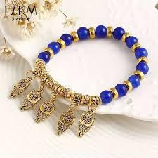 fashion beaded bracelet images Brand fashion summer style good luck owl bracelet charm beads jpg