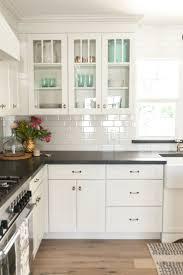 Kitchen Ideas Grey Backsplash Subway Tile White Kitchen By Shape Square Tiles