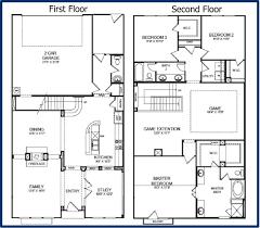 floor plans 2 story homes simple 2 storey house plans homes floor plans