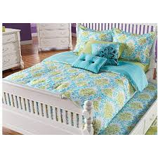 Paige BlueGreen Twin Bed Set  Rooms To Go Kids Twin Lin - Rooms to go kids bedroom