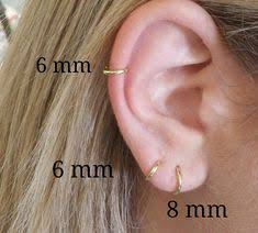 cartilage hoops cartilage earring 14k gold fill small gold cartilage earrings