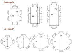 Dining Table Seating Capacities Chart By Size And Shape - Oval dining table for 8 dimensions