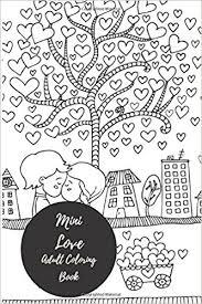 mini love coloring book travel small portable stress