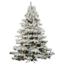artificial flocked frosted trees bulbamerica