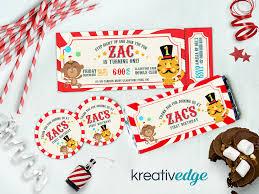 custom circus invitations custom invitations u2013 kreativedge