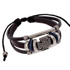 leather bracelet with cross images Maltese cross leather bracelet bold expressions jpg