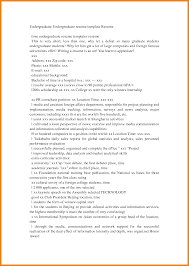 Sample Resume For Undergraduate Students by Undergraduate Resume Sample Free Resume Example And Writing Download