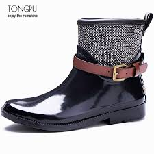 s boots buckle tongpu arrival rubber boots for with belt and buckle