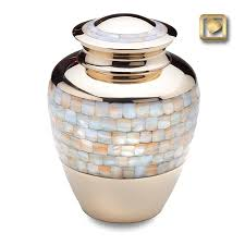 urn for ashes of pearl band brass urn cremation urns urn and pearls