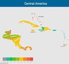 Central America Map Labeled by How Fat Is Your Country And Which Nations Have The Highest