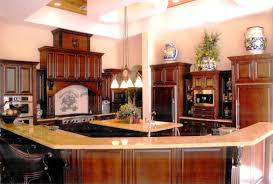 Kitchens With Hickory Cabinets Cherry Cabinets Kitchen Amber Cherry Mitred Raised Kitchen For