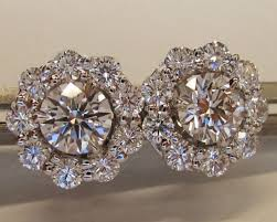 diamond earring jackets with a vatche royal crown bands diamond content and