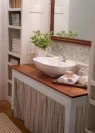 Bathroom Sink Table 90 Best More Cabinet Curtains Images On Pinterest Laundry Room