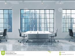 Loft Modern Workplaces In A Bright Modern Loft Open Space Office Tables Are