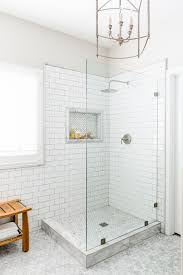 No Shower Door All White Design Shower With Glass Panel Glass Shower With No