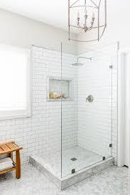 Bathroom Shower Tile Images All White Design Shower With Glass Panel Glass Shower With No