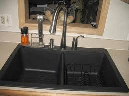 black faucet with stainless steel sink exquisite kitchens look sing silver widespread single faucet and