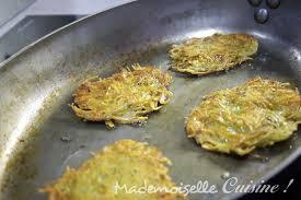 cuisiner les pommes de terre rapés ou galettes de pommes de terre mademoiselle cuisine