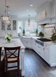 White Cabinet Kitchen Design Espresso Cabinets And Blue Gray Wall Paint Click Image To Find