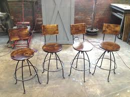 Wooden Swivel Bar Stool Wood And Metal Swivel Bar Stools Ggregorio
