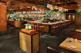 traditional japan sushi restaurant interior design entry bamboo