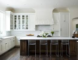 white kitchen wood island white cabinets with floors white kitchen wood island via
