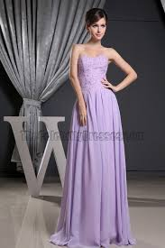 celebrity inspired strapless lilac chiffon prom gown formal dress