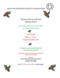 houston leipzig celebrates the holidays with a potluck party