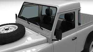 white land rover interior land rover defender 90 pick up w interior 3d model obj fbx stl