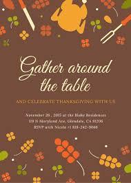 thanksgiving invitation templates canva
