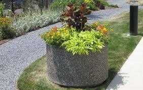 standard round planters doty concrete