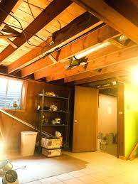 ceiling materials drop tiles options spray painting basement black