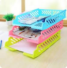 boite de rangement papier bureau rangement en plastique de bureau a4 papier panier rack de stockage