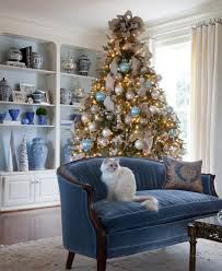 Blue Christmas Tree Decorations Ideas by