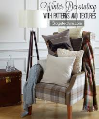 Winter Home Decorating Ideas Home Decor Decorating With Winter Patterns And Textures