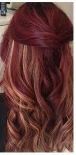 mahogany red hair with high lights velvet red and peekaboo highlights hair 3 pinterest peekaboo