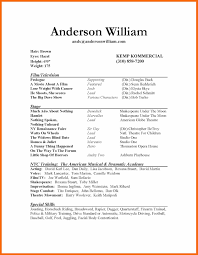 Example Of Actor Resume by Theater Resume Virtren Com