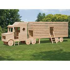 wooden truck amish made 23x4 ft wooden semi truck playground set