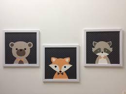 tableau chambre enfant tableau raton laveur décoration chambre enfant bébé un grand marché