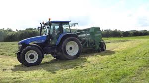 new holland tm140 with mchale f550 baler stephen roberts