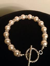 swarovski bracelet with pearls images Ivory swarovski pearl bracelet with silver spacers sterling silver jpg