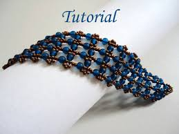 beading bracelet patterns images Wonderful lace bracelet with capri blue round beads 4mm and seed jpg