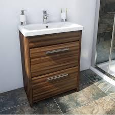 smart walnut floor mounted 500 drawer unit u0026 basin victoria
