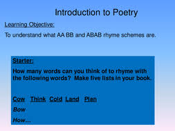 ks3 poetry introduction week 1 by teach first teaching resources