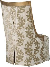 Slipper Chair Chic Slipper Chair In Gold And Cream Brocade Fabric
