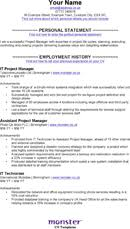 It Project Manager Resume Template Download Cv Template For Free Tidyform