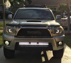 4th gen 4runner led tail lights 41 5 led light bar mounted on stock roof rack toyota 4runner