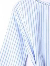 long sleeve striped dress with tie belt blue stripe casual